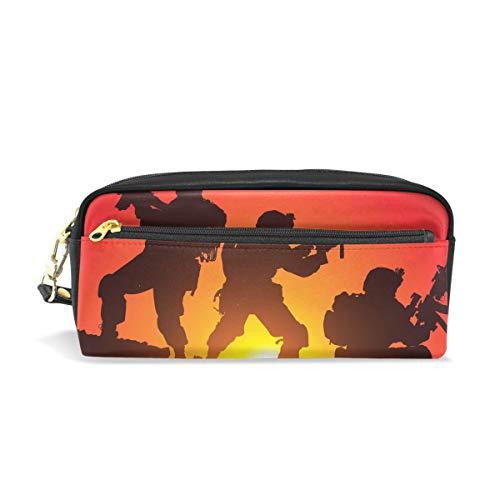 Montoj Coucher de soleil Soldat avec pistolet à bille à crayons pour stylo