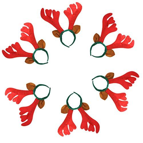 Kapmore REH gewei haarband rendier haarband Bambi haarband 6 stuks Kerstmis hoofdband creatieve leuke gewei haarband party hoofdband