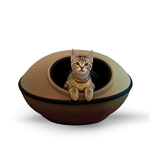 K&H PET PRODUCTS Cama para Mascotas Mod Dream Pod, Sin Calentar, Bronceado/Negro, 22' Round