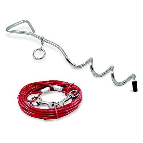 ZD Trading Anlegepflock mit Hundeleine 4 Meter