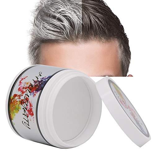 Cera Cabello Para Pelo Unisexo Cera para el cabello Lavable Tinte Temporal Capilares Apta para fiesta Halloween Navidad-Blanc