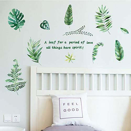 DIY Pegatinas de pared Decoración para el hogar Sala de estar Plantas verdes Pegatinas Baño Azulejos Decoración de muebles de vidrio