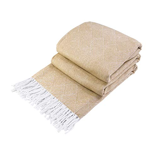 LoveYouHome Squares-Rombs Cotton Throw-Blanket Extra Large Soft (55 in X 79...