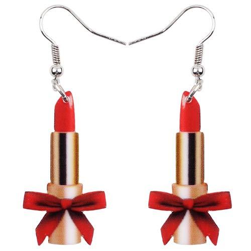 Dames Oorbellen Acryl Dames Lippenstift Oorbellen Grote Lange Druppel Hanger Unieke Sieraden