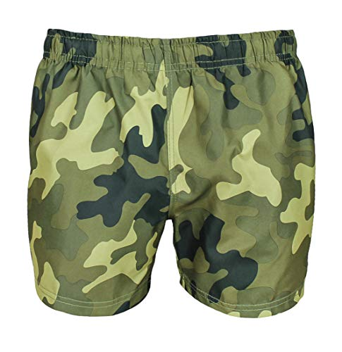 Evoga Badehose für Herren, Militär, Camouflage, Shorts L