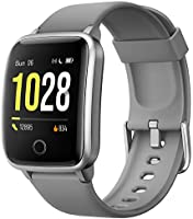 Willful Smartwatch,Pantalla de 1,3 Pulgadas Reloj Inteligente Impermeable IP68 con Pulsómetros para Mujer Hombre,...