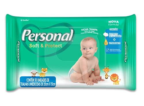 Toalhas Umedecidas Soft and Protect, Personal, 50 unidades