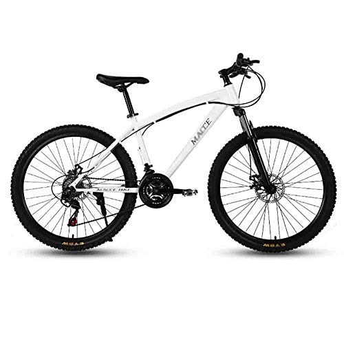 Purchase TOOLS Mountain Bike MTB Bicycle Adult Road Bicycles for Men and Women 26In Wheels Adjustable Speed Double Disc Brake (Color : White, Size : 21 Speed)