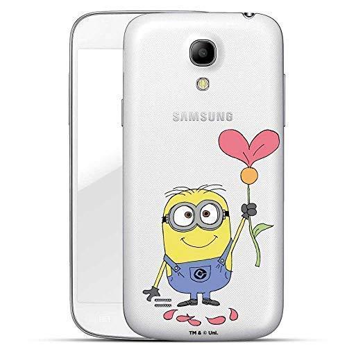 Hülle für Samsung Galaxy S4 - Minions Handyhülle mit Motiv und Optimalen Schutz Tasche Case Hardcase Cover Schutzhülle - Herz Blume Minion