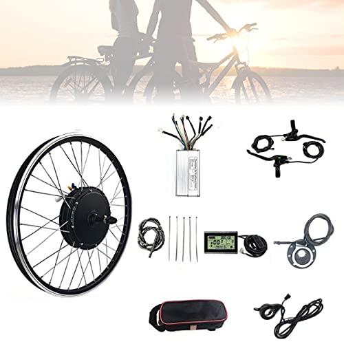 CHEIRS Kit de Conversión de Bicicleta Eléctrica 48V/1000W 20' 24' 26' 27.5' 28' 29' 700C de Motor de Rueda Trasera de Bicicleta eléctrica con Pantalla LED,SpinningFlywheel-700cINCH