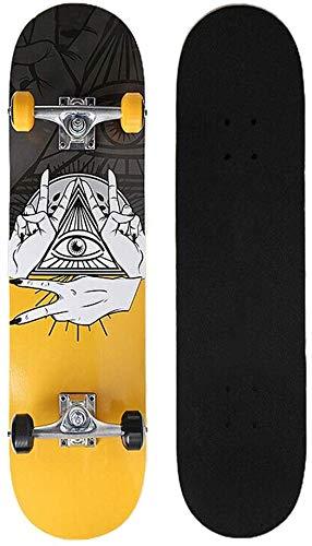 SCLL Old School Deck Kick Skateboard mit Flash Wheel Komplette Skateboards für sportliche Teenager Erwachsene Anfänger Mädchen Jungen (Farbe, 01, Größe, 79x21cm), 02,79x21cm