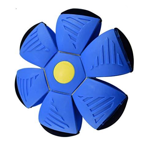 WDFDZSW Plane Deformation Ball Vuelo Platillo Forma Luminoso Juguete Al Aire Libre Bola de Rebote con Bola de Rebote de Bola de Bola Azul Azul (Color : Blue)
