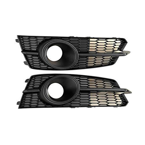 SHANYUR Chrome Parachoques Delantero Izquierdo Inferior Derecho la luz de Niebla Acc Rejillas Sensor de Radar de la cáscara de Ajuste/for Audi A6 17-18 S6 S-Line C7.5 (Color : Black)