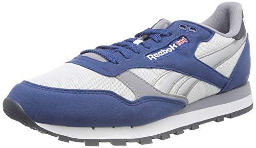 Reebok Jungen Cl Leather RSP Fitnessschuhe, Mehrfarbig (Bunker Blue/White/Cool Shadow/Graphite/S 000), 34 EU