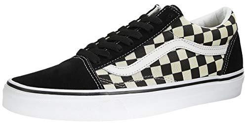 Vans Old Skool Classic - Scarpe da skate unisex, Nero ((a scacchi primari) nero/bianco.), 14.5 Women/13 Men