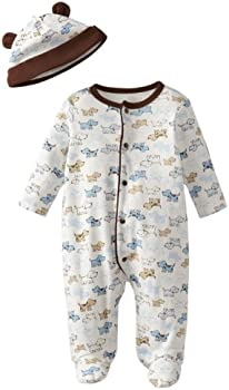 Little Me Baby Boys' Footie and Hat (Preemie to 9-Months)