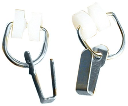 RV Designer A109, Nylon Two Wheel Carrier with Hook, Fits I Beam Track, 14 Per Pack, Window Covering Hardware