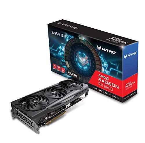 Sapphire 11305-01-20G Nitro+ AMD Radeon RX 6800 PCIe 4.0 Gaming Grafikkarte mit 16GB GDDR6