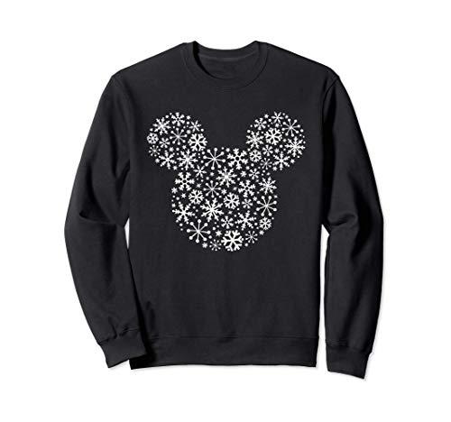 Disney Mickey Mouse Icon Holiday White Snowflakes Sudadera