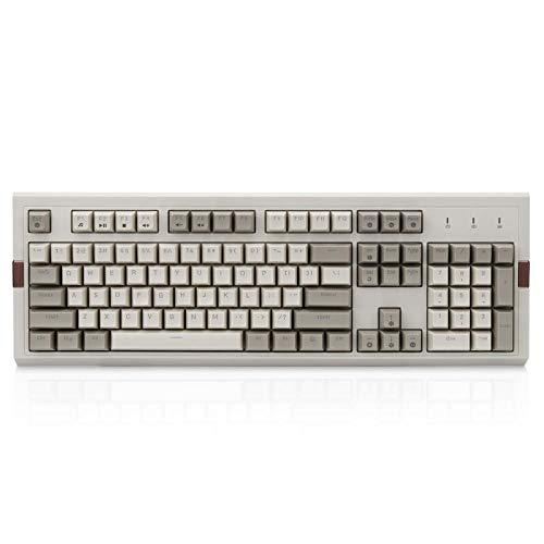 FANGCHENG Keycaps 104 Tasti KeyBalical Keybaord Retro Gaming Keyboard RGB retroillit cablato USB Tastiera cablata PBT Ball Tasto Tappo PC Tastiera AK510 (Axis Body : Brown Switch, Color : Olive)