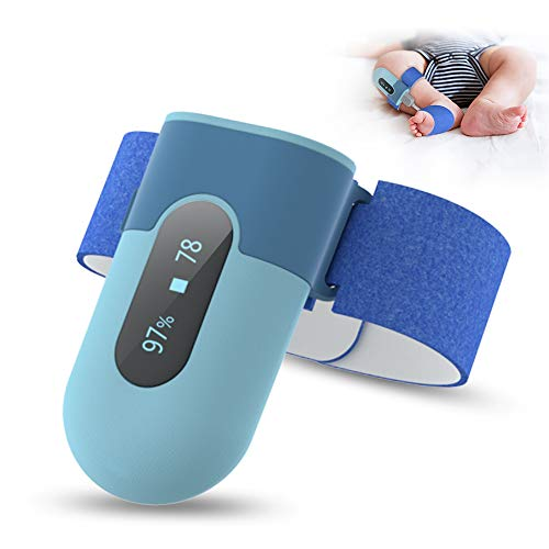 Oxímetro bebés, monitor de oxígeno para niños, oxímetro de pulso digital pediátrico con APP e informe de PC en PDF y CSV para saturación de oxígeno (SpO2), frecuencia cardíaca y movimientos del sueño