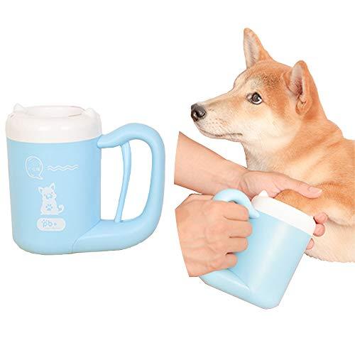 MIGHTYDUTY Hundepfotenreiniger, Welpen, Fußwaschbecher mit Griff für Hunde und Pfotenpflege