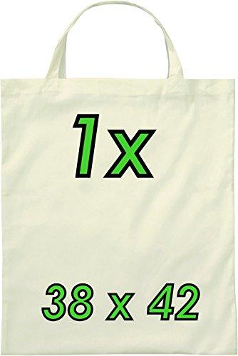 Baumwolltasche zwei kurze Henkel 38 x 42 cm natur [Textilien]