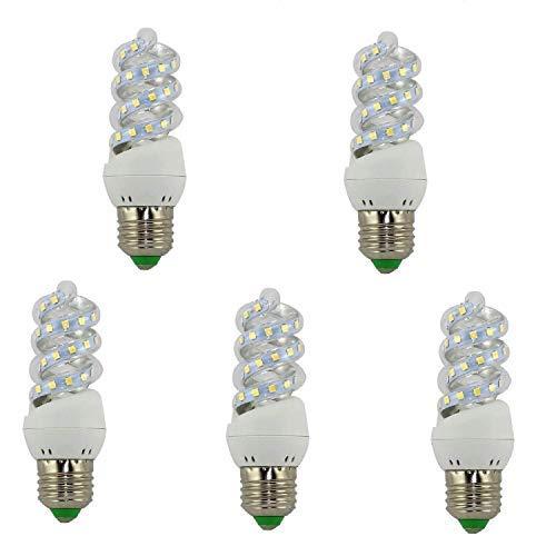 BOMBILLA MINI LED ESPIRAL E27 5 W (6500K) Pack 5