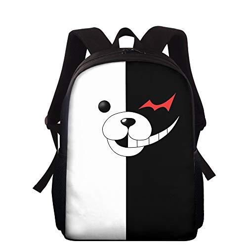 Anime Danganronpa Sac à Dos Bookbag Cosplay Daypack College Middle High School Student Bag Voyage Sacs à Dos pour Ordinateur Portable Monokuma Cartable Sac à Dos Sac à Dos pour garçons Filles