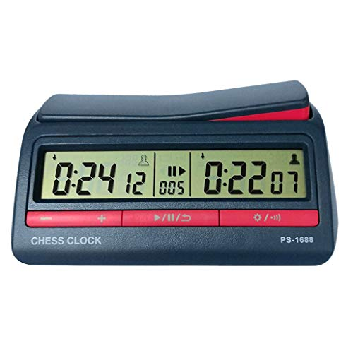 Xiangrun Reloj de Ajedrez Profesional, Avanzado Ajedrez Temporizador Digital Reloj de Ajedrez Cuenta Arriba Abajo Reloj de Juego de Mesa