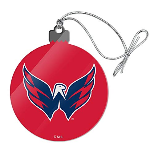 GRAPHICS & MORE NHL Washington Capitals Logo Acrylic Christmas Tree Holiday Ornament
