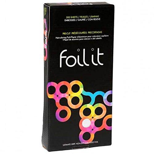 Framar Lot de 500 feuilles de papier aluminium gaufré argenté pour salon de coiffure 30,5 x 12,7 cm