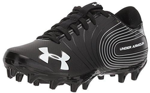 Under Armour Boys' Speed Phantom Jr. Football Shoe, Black (001)/White, 4.5