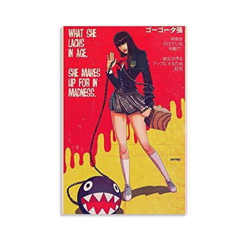 ASDJJ GoGo YUBARI Kill Bill Movie Poster. Canvas Art Poster and Wall Art Picture Print Modern Family Bedroom Decor Posters 12x18inch(30x45cm)