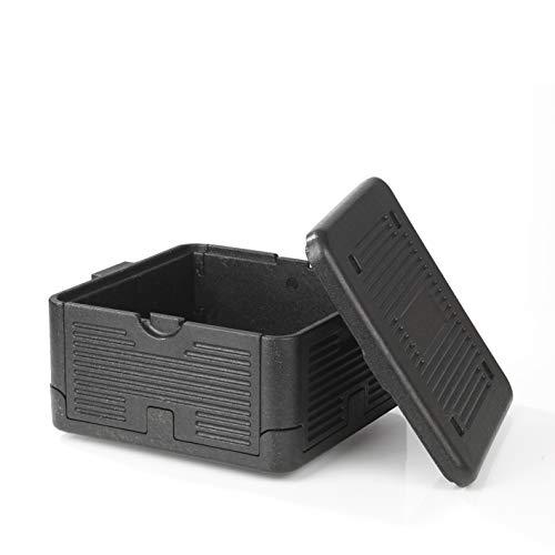MAXXMEE Thermo- & Transportbox | Kühlbox faltbar und leicht | Take-Away, Einkäufe, Bier, Picknick bleibt stundenlang warm oder kalt | 17,5 Liter [schwarz]
