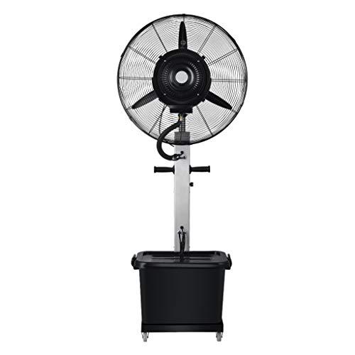 Airconditioning Fan industriële spraykoelventilator voeg ijs en water toe. Krachtige verstuiver voor buiten, oscillerende staande ventilator, 3 snelheden, 10 uur, volume: 42 liter.