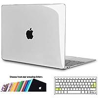 iNeseon Funda MacBook 12 Pulgada, Carcasa Case Duro y Cubierta del Teclado Transparente EU Layout para Apple MacBook 12 Retina Modelo A1534, Transparente