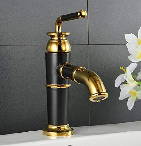 Grifo de Cocina, Retro faucet wash hotel cobre-oro mixto grifo grifo de agua fría y caliente grifo de lavabo