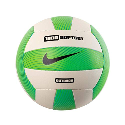 Nike Softset Outdoor Volleyball Deflated, Electric Green/White/Gamma Blue/Black, 0