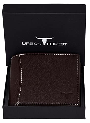 Urban Forest Brown RFID Blocking Leather Wallet for Men