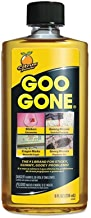 Goo Gone Original Liquid - 8 Ounce - Surface Safe Adhesive Remover Safely removes Stickers Labels Decals Residue Tape Chewing Gum Grease Tar