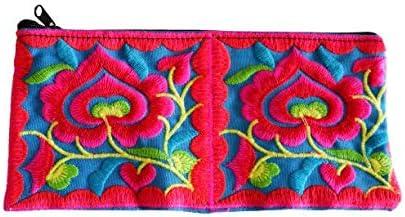 Flowers Clutch Purse Handbag for Women - Handmade Flower Wristlet