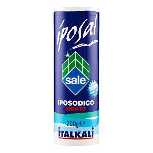 SALE IPOSAL IPOSODICO IODATO BARATTOLO CON SPARGITORE ITALKALI 200 GR IODIO PEPE