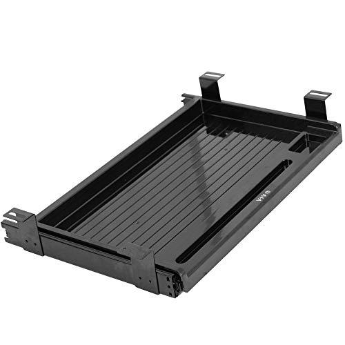 VIVO Black 17 inch Mounted Sliding Under Desk Slim Pull-out Pencil Drawer, Office Storage Organizer for Sit Stand Workstation (DESK-AC04D)