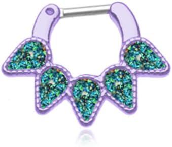 WildKlass Jewelry Purple Septum Clicker 14g 1/4