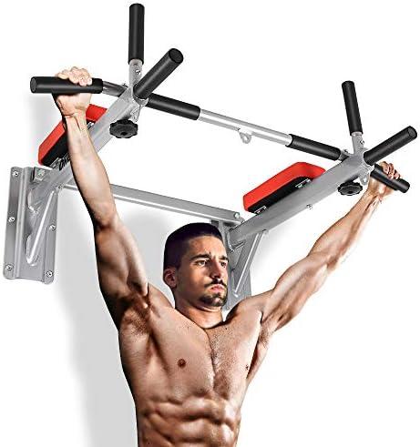 Wakauto Barre Droite Rotative R/ésistante Barre de Traction de Biceps de Bricolage avec Attache de Poign/ées Barre Droite Rotative Machine de Poids de Barre Droite de C/âble pour