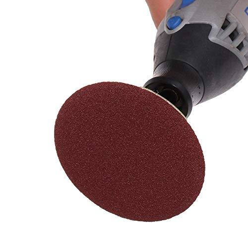 GFHDGTH60 Stk.Schleifwerkzeuge75 mm Schleifscheibe Schleifscheibe 80-600 Schleifpapier mit 3 Zoll Polierscheibe für Dremel 4000