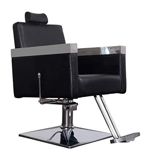 Barberpub Friseurstuhl Friseursessel Bedienstuhl Friseureinrichtung Stuhl 3021BK-1