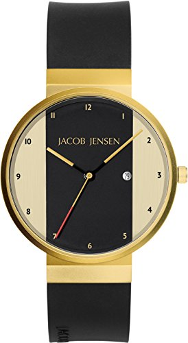 JACOB JENSEN Unisex-Armbanduhr JACOB JENSEN NEW SERIES ITEM NO. 734 Analog Quarz Kautschuk JACOB JENSEN NEW SERIES ITEM NO. 734
