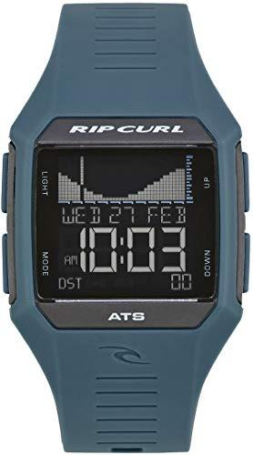 RIP CURL Reloj de Surf Rifles Mid Tide Surf - Cobalt - Ligero, Resistente al Agua y Resistente al rocío - Cambiar Entre Vista gráfica o Detallada
